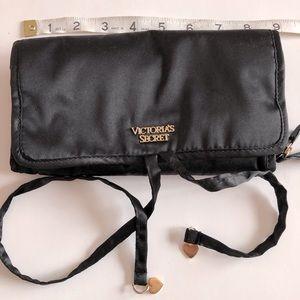 Victoria Secret Black Jewelry Roll Case
